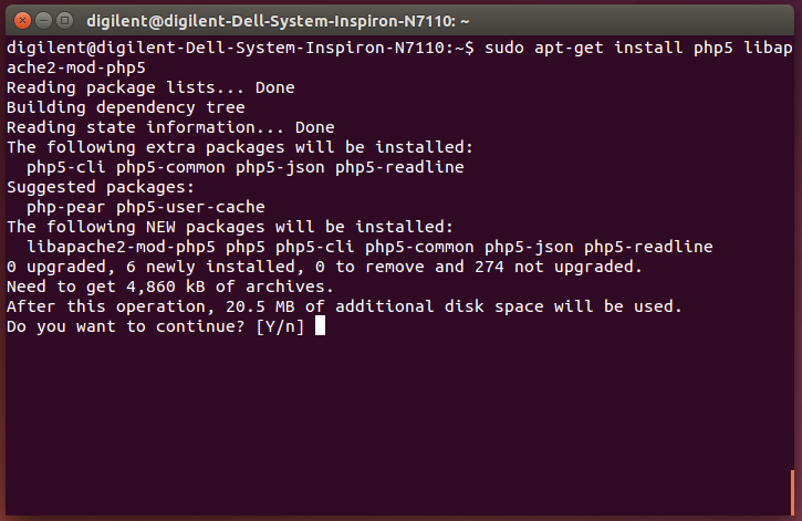Picture of Install PHP