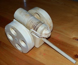 Wooden Rubberband Plunge Cannon
