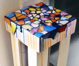 Tiny Mosaic Phone Table