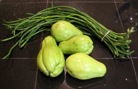 Chayote Squash and Long Beans