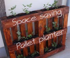 Space Saving Pallet Planter