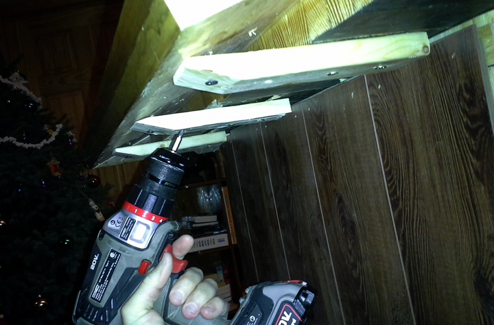Picture of Glue and Support the Armrail