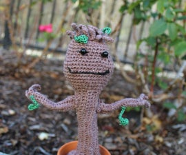 Amigurumi Crochet Dancing Baby Groot from Guardians of the Galaxy