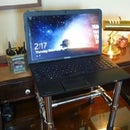 Simple laptop stand / standing desk