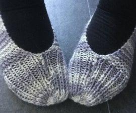 DIY Striped Yarn Slippers