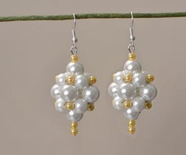 How to Make a Pair of Pearl Ball Drop Earrings for Brides