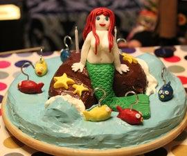 Playable mermaid birthday cake
