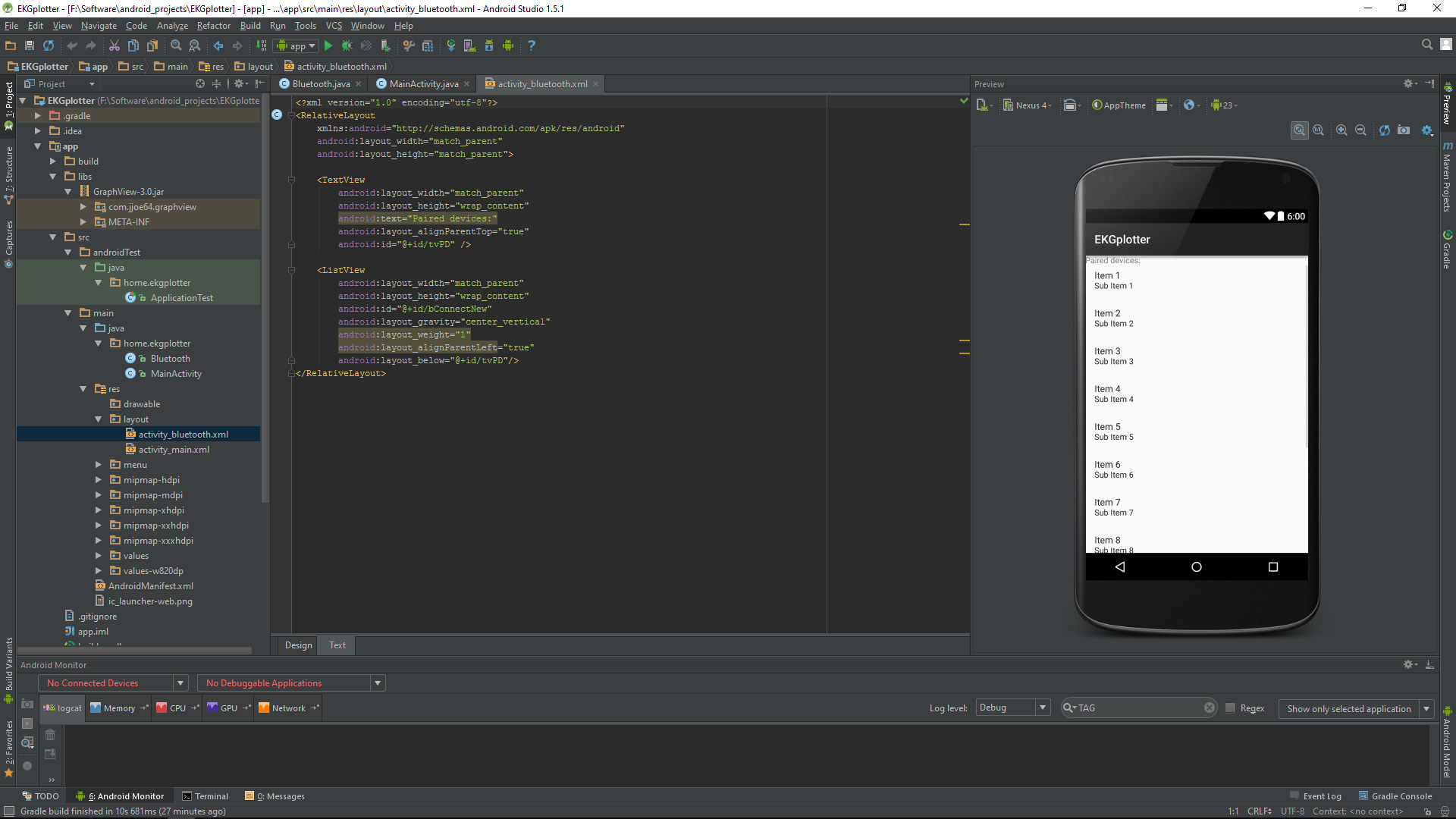 Picture of Creating an Android Bluetooth Data Plotter