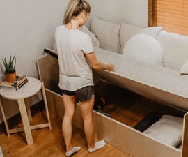Lift Sofa Bed With Storage!