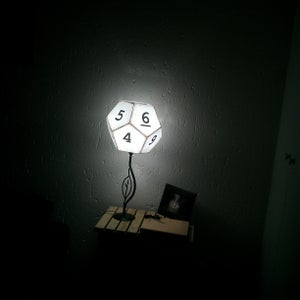 12-sided Dice Lampshade