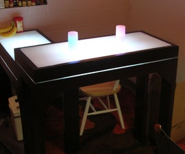 Light-Up Bar Table!