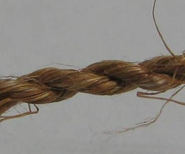 Make rope out of dead plants -- with no tools