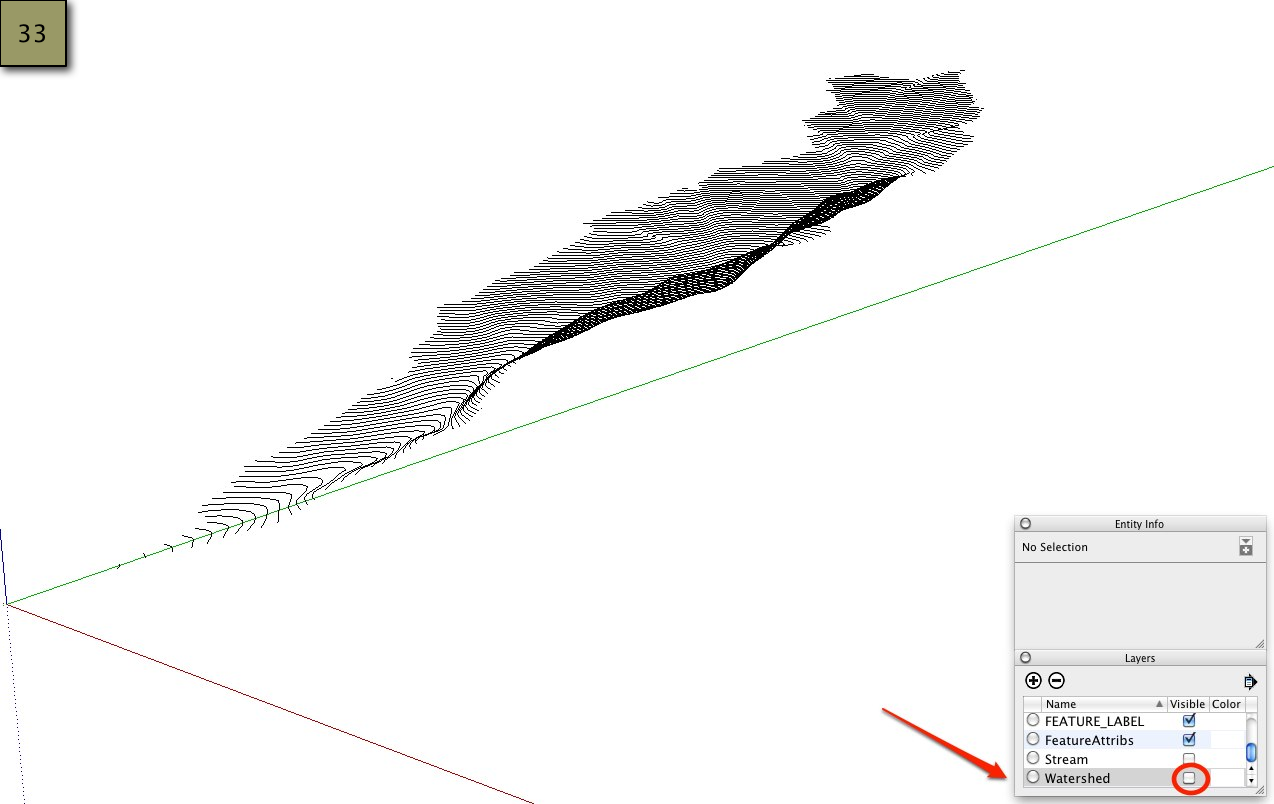 Picture of Import and Create the 3D Watershed - SketchUp