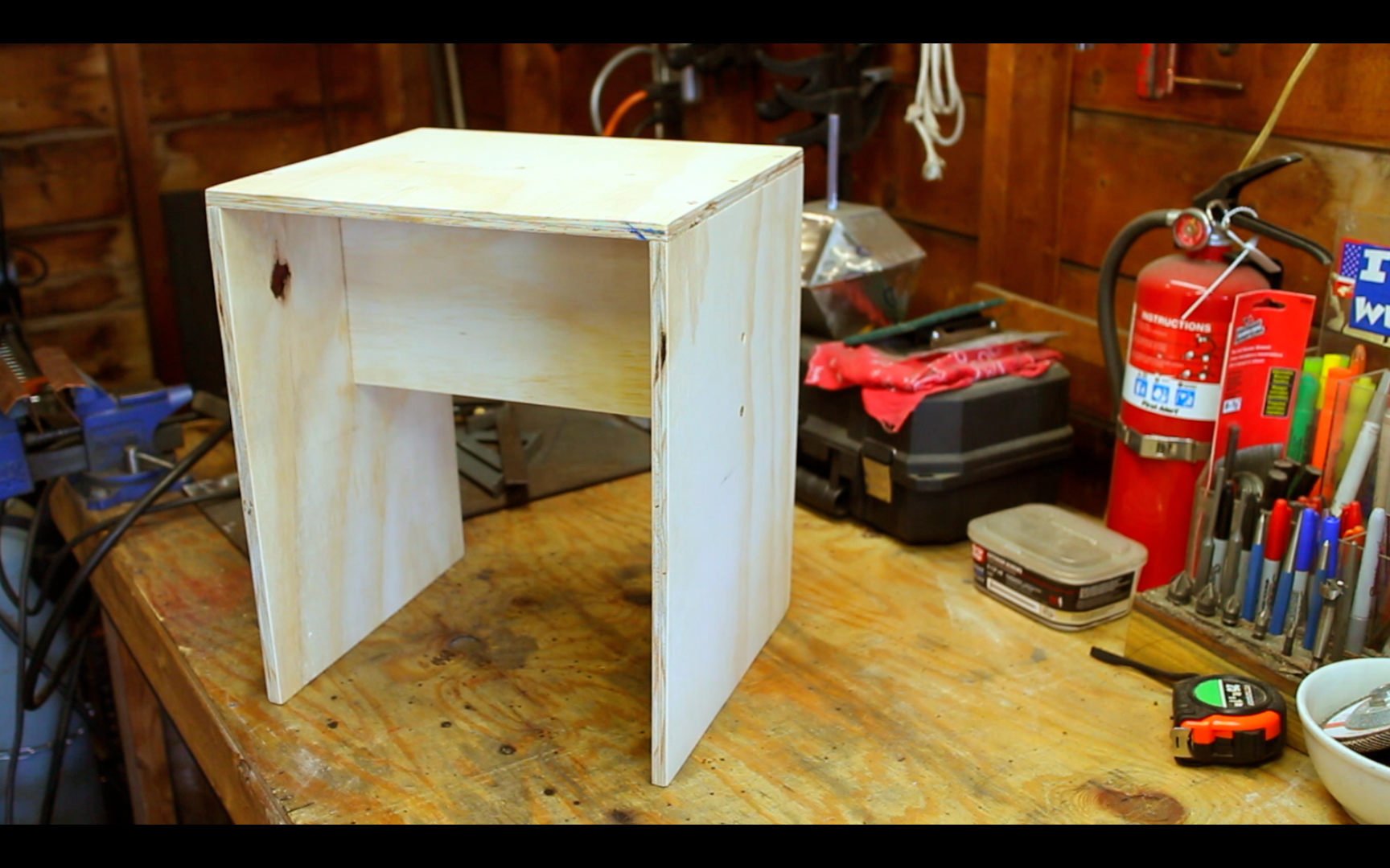 Picture of Simple Plywood Stool