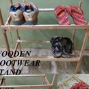 WOODEN  FOOTWEAR STAND AT JUST 60.Rs or 1$