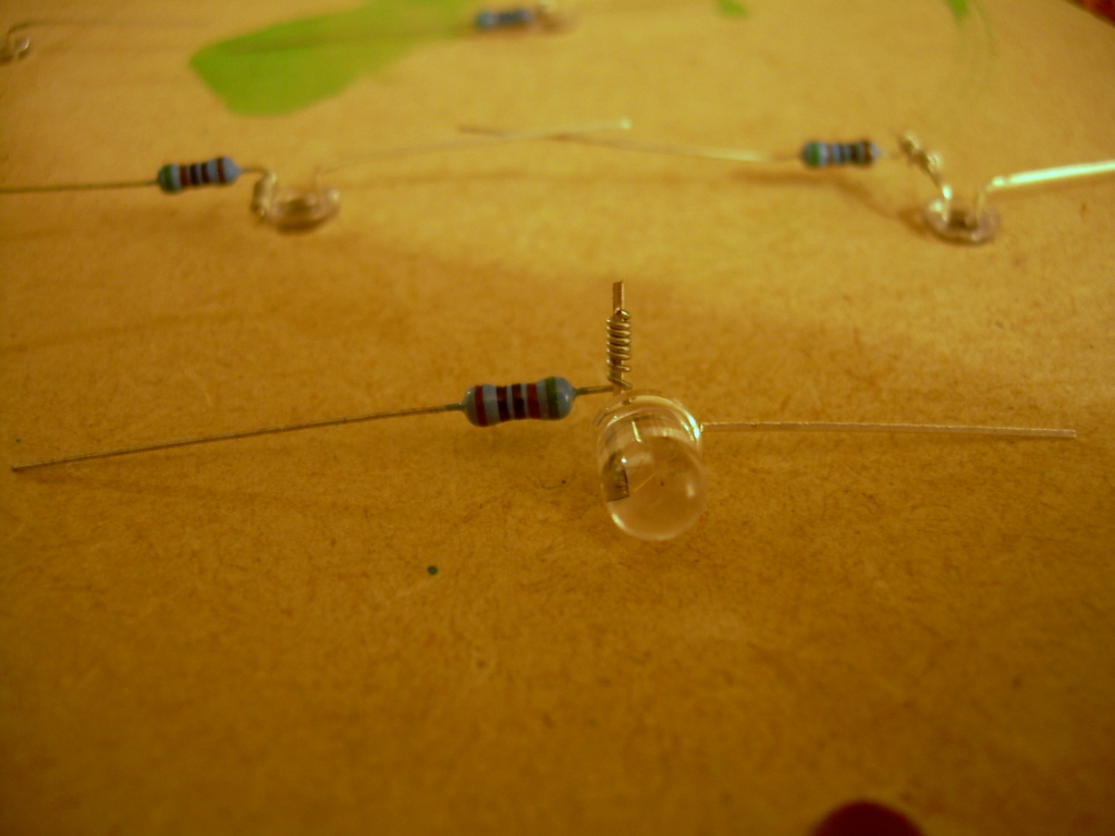 Picture of Prepare the LEDs and Resistors