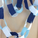 "Eco-Friendly ""paper"" chains (aka world's easiest sewing project)"