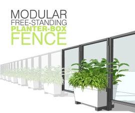 Modular Free-Standing Planter Box Yard Fence / Baby Gate