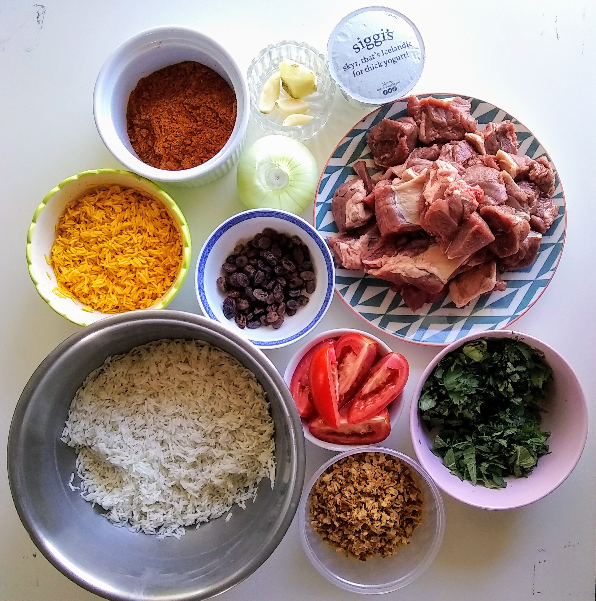 Picture of Biryani Ingredients!