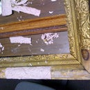 Restoration of an estate sale find... A 100-year-old antique picture frame.