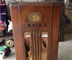 1937 Radio Cabinet Upcycled Into a Lighted Minibar!