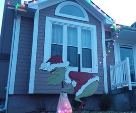 The Grinch stole my lights! (Christmas Decoration)
