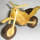 Wooden Dirt Bike Model