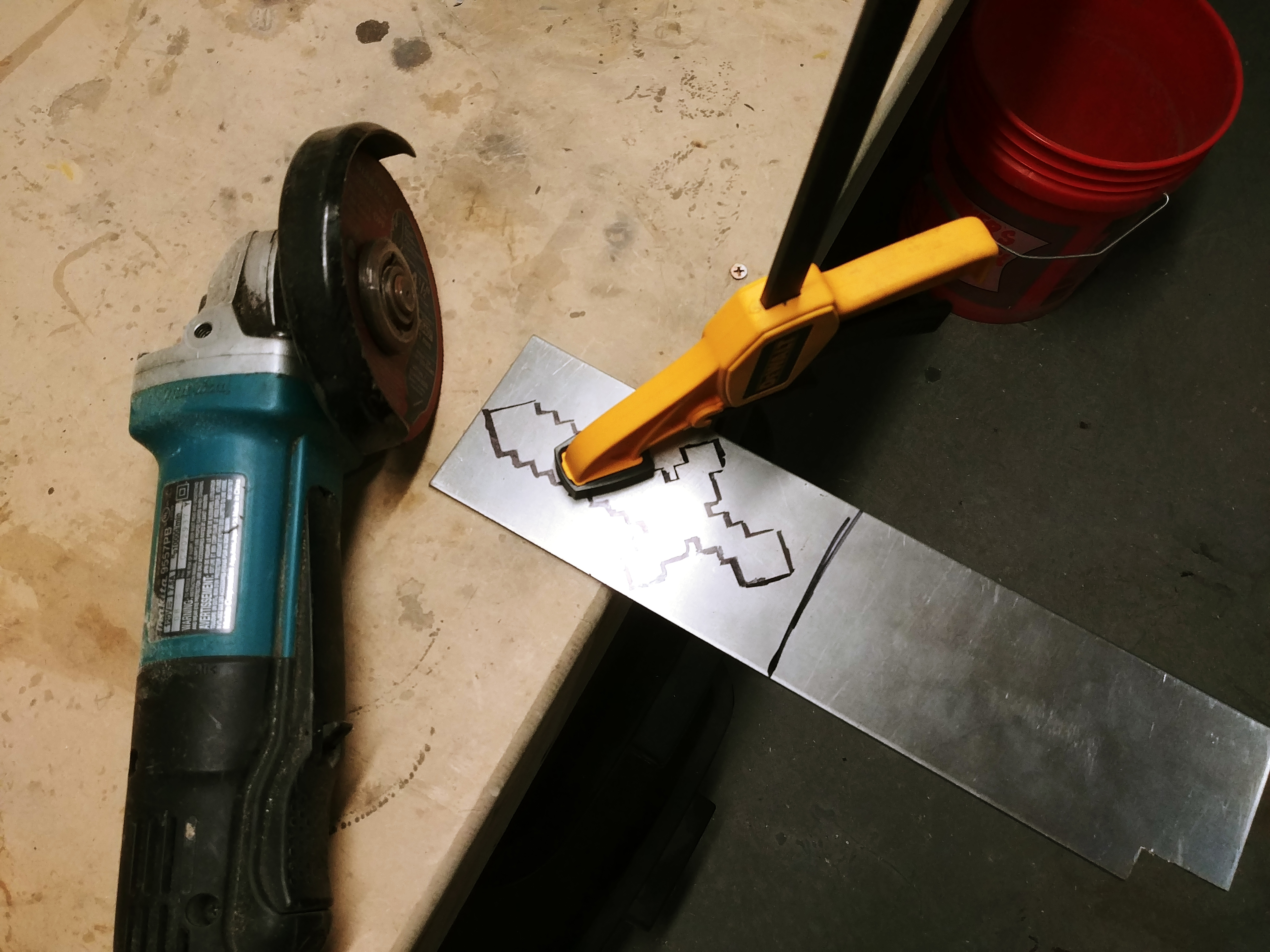 Picture of Cutting the Steel to Shape