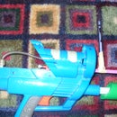How to make a somewhat silent pretty fast multi-shot bb gun from your old nerf gun.