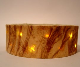 Wood Veneer Bracelet with LED Backlighting
