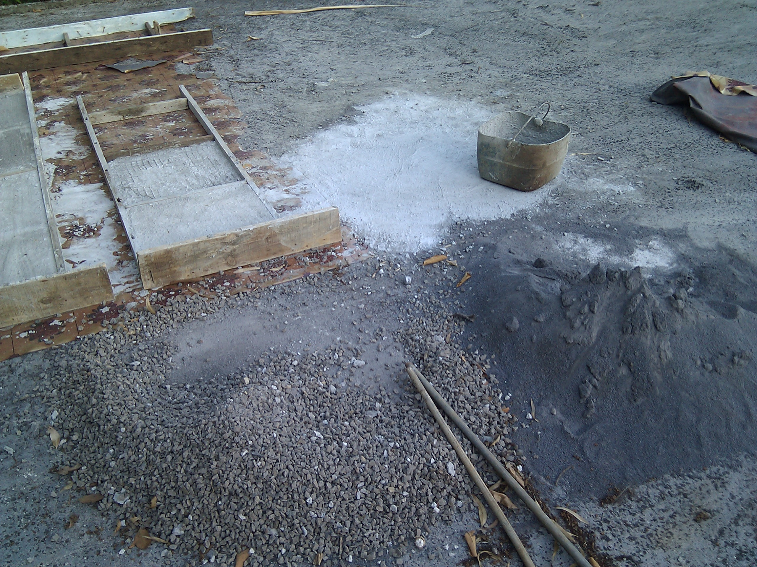 Picture of Preparing the Mould to Build the Slabs