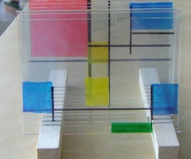 Layered glass art