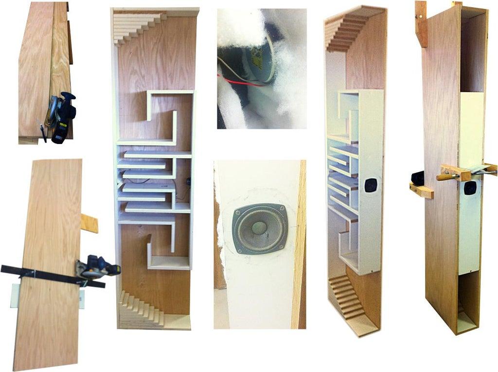 Folded Horn High Accuracy Full Range Speaker System 4 Steps With