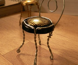Make a Little Chair out of a Champagne Cork Holder