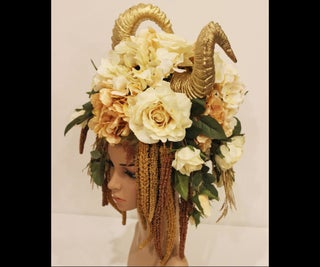 Golden Goddess Horned Headdress