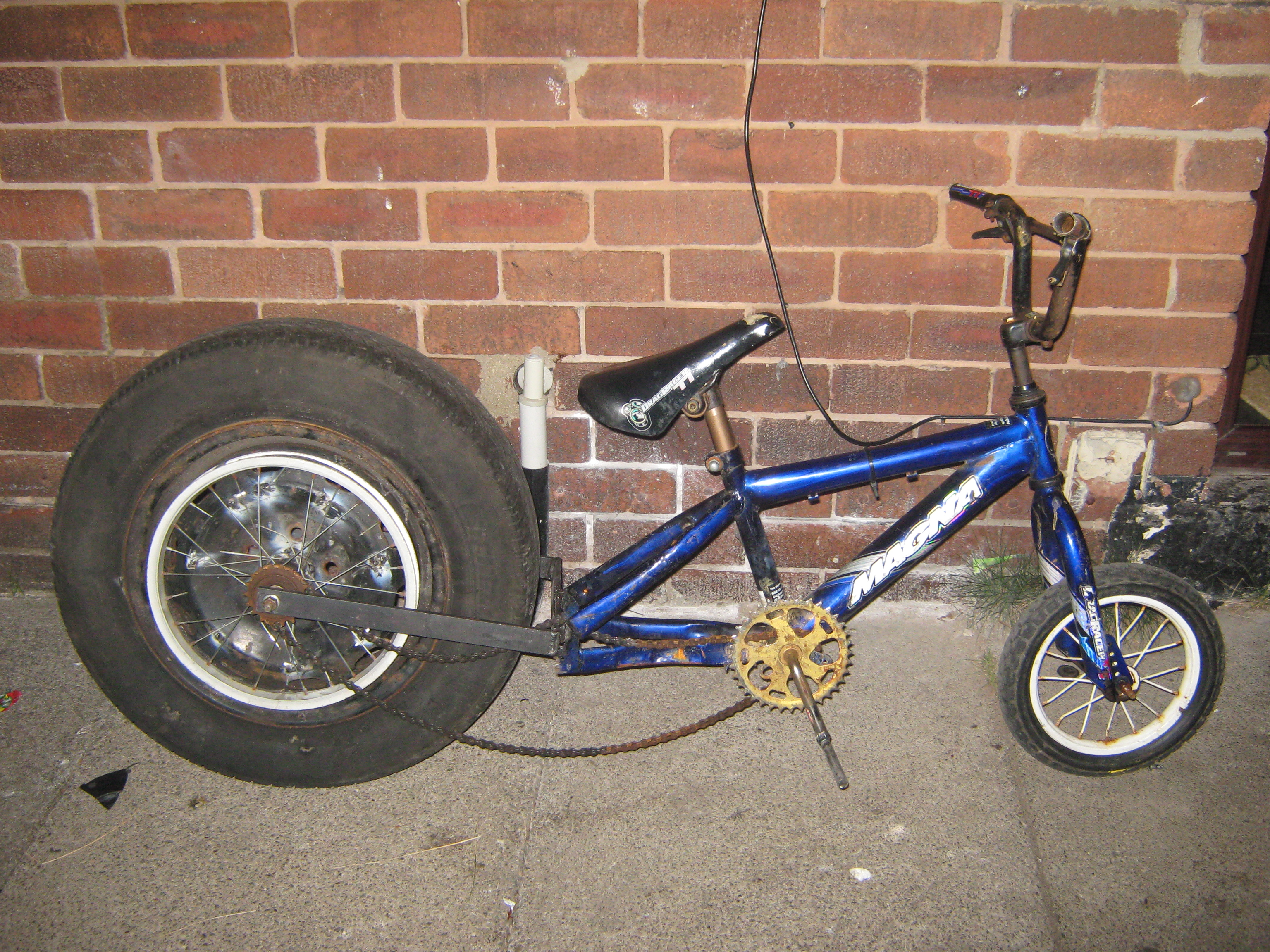 Picture of Push Bike With Car Wheel (dragster Look)