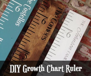 Growth Chart Ruler DIY With Video