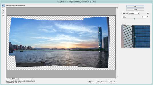 Adaptive Wide Angle Filter