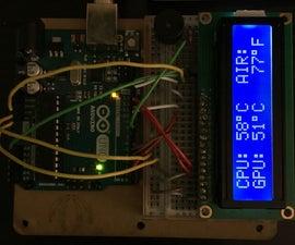 Arduino LCD Computer Temperature Monitor