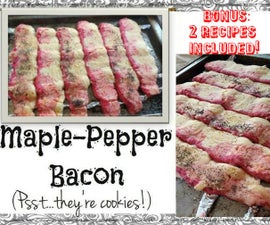 Deceptive Maple-Pepper Bacon (cookies!)
