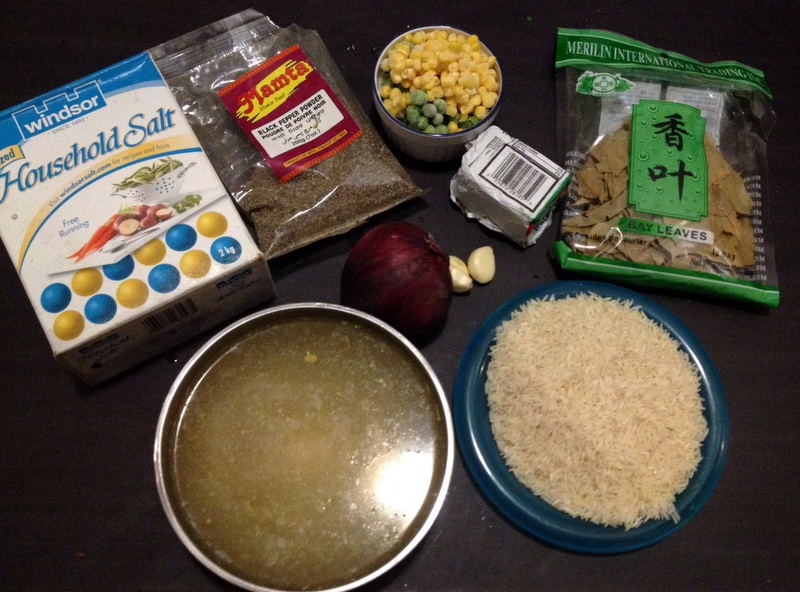 Picture of Ingredients for Butter Rice
