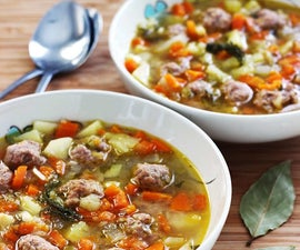 Estonian Meatball Soup