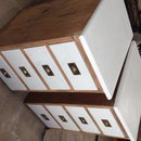 upcycled bedside cabinets