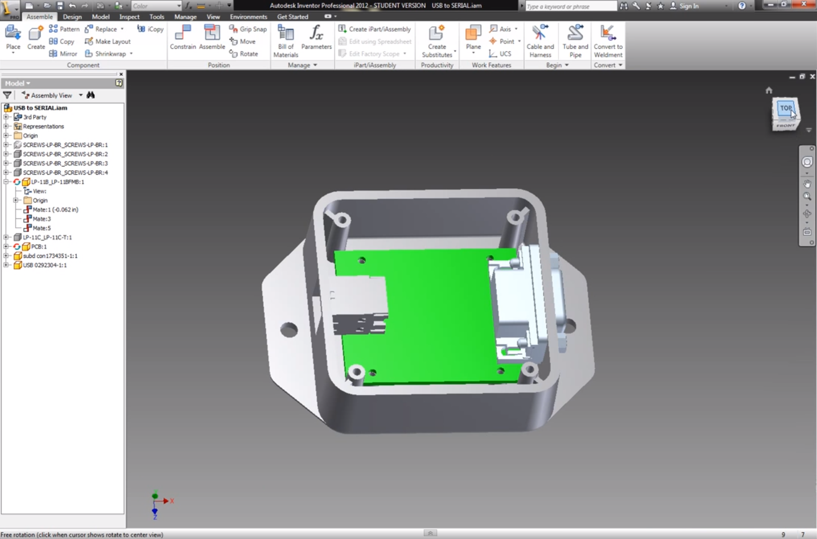3D Model of Electronics Case With AutoDesk Inventor Pro