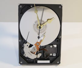 Upcycle a Hard Drive Into a Clock