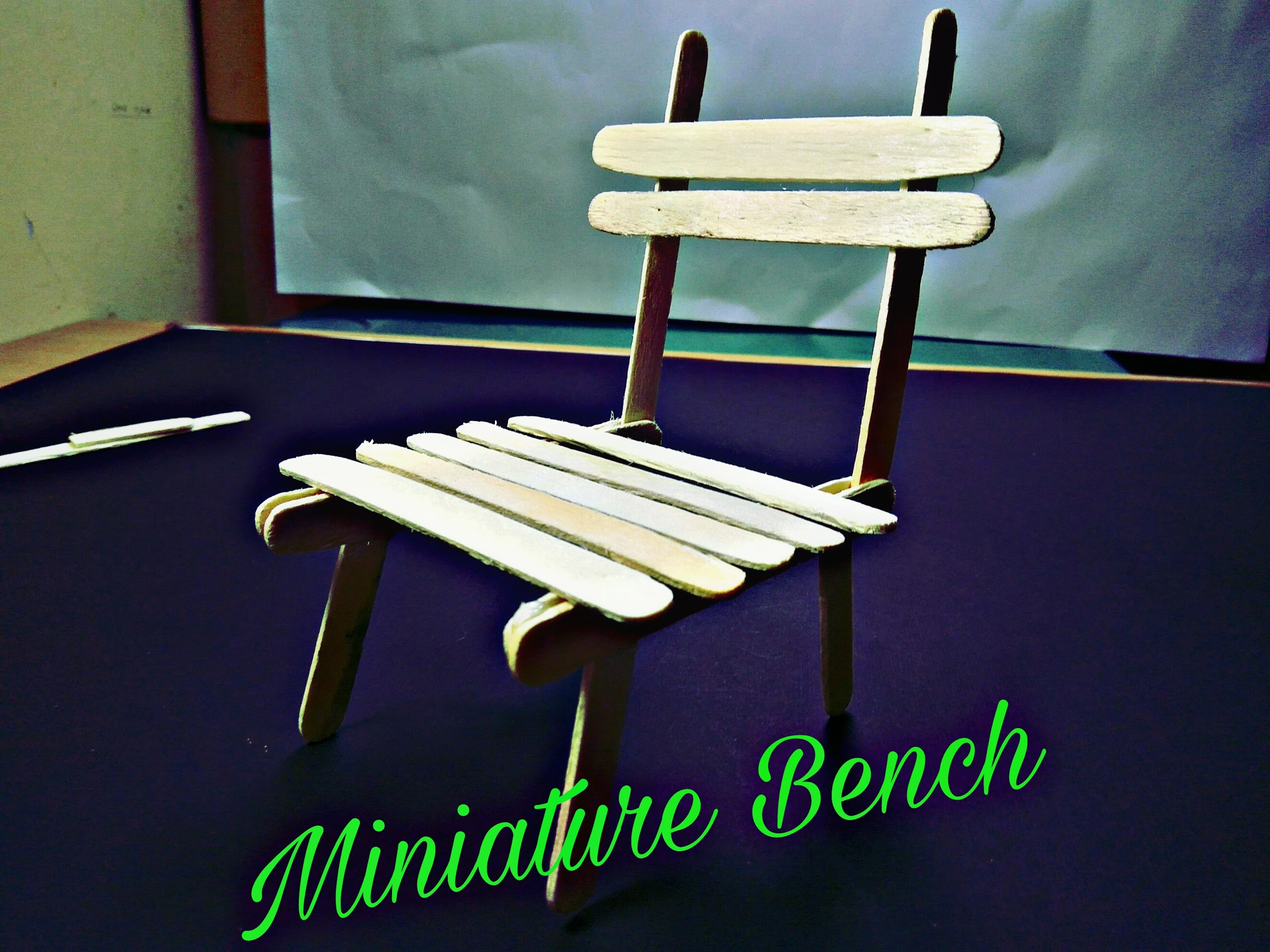 Picture of Simple Popsicle Stick Bench