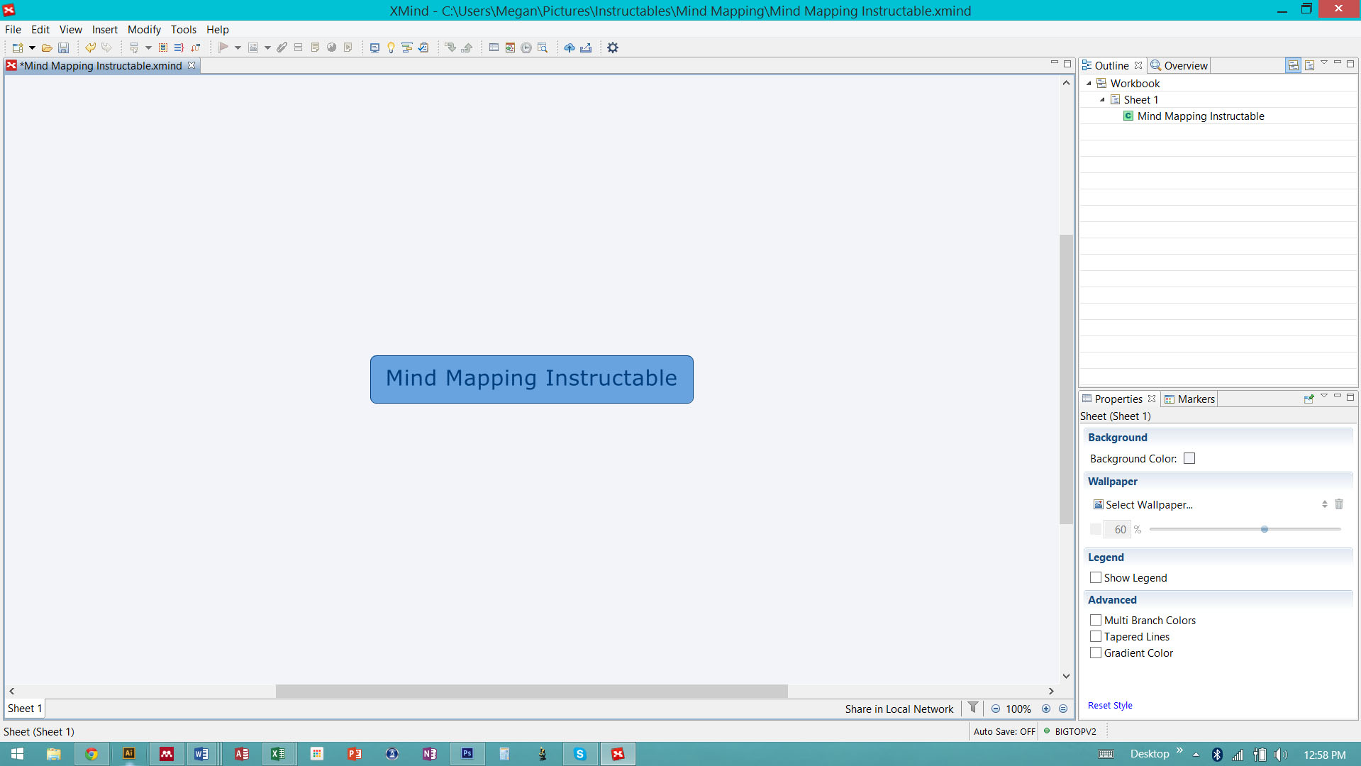 Picture of Create a Basic Mind Map