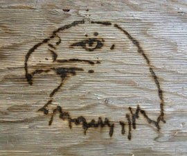 Burn a picture on wood using a magnifying glass!
