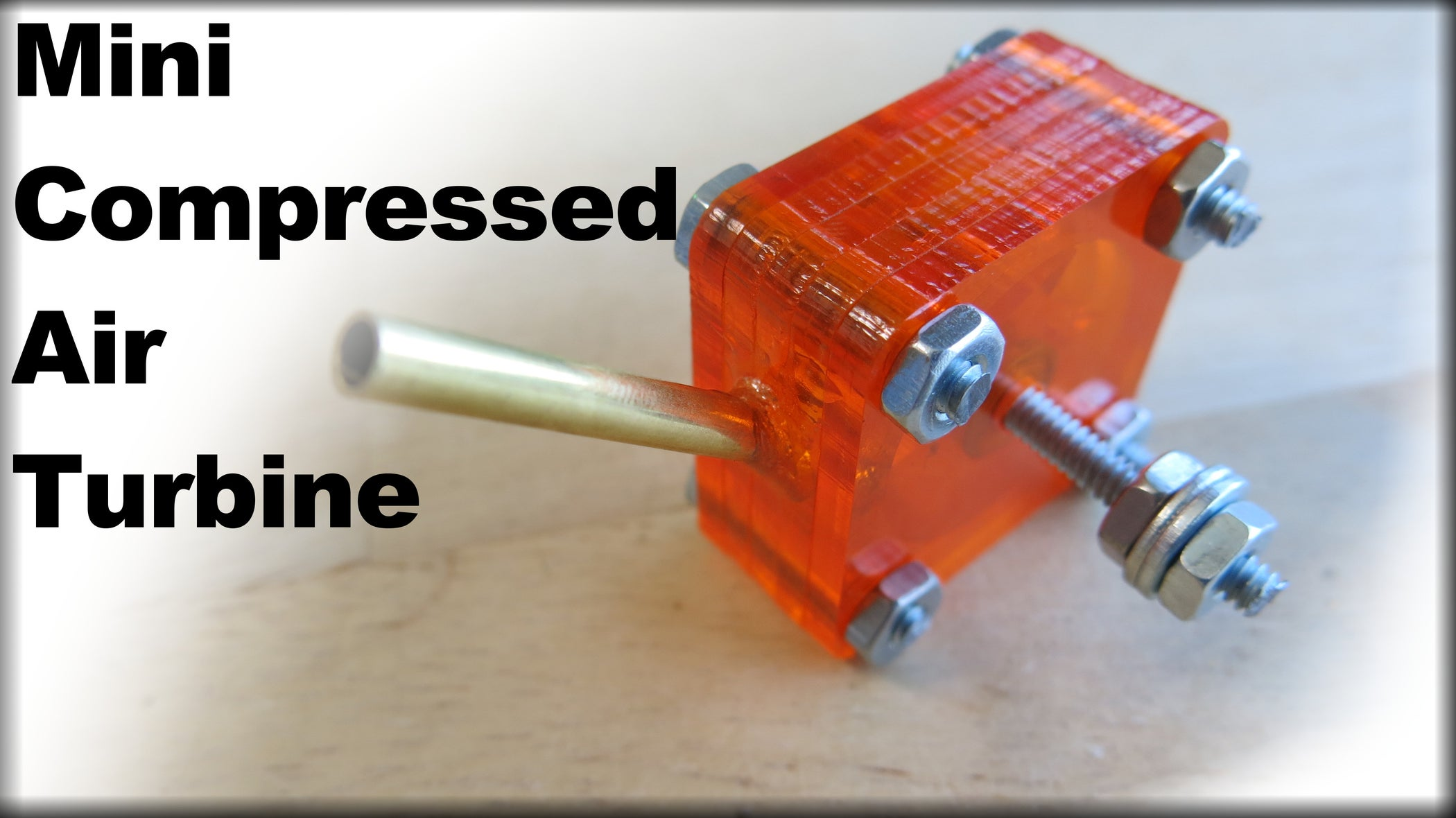 How To Make A Mini Compressed Air Turbine 7 Steps With
