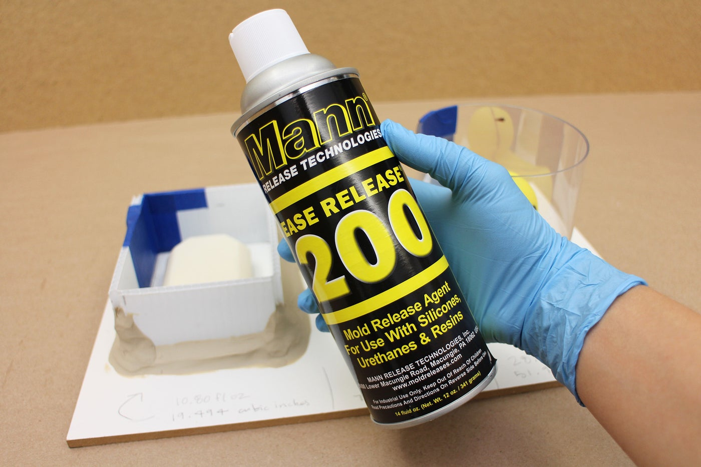 Spray With Mold Release